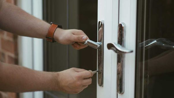 upvc doors being locked