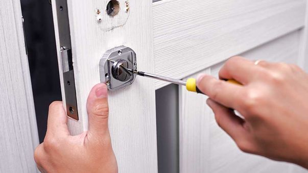 repairing door after burglary